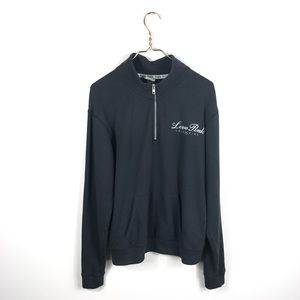 VS Love Pink • Black Half-zip Sweater.